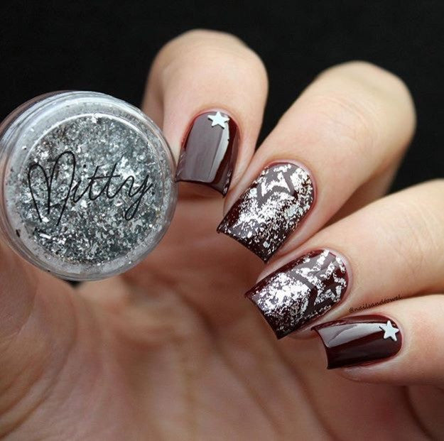 Mitty Shattered Stars Nail Art Powder