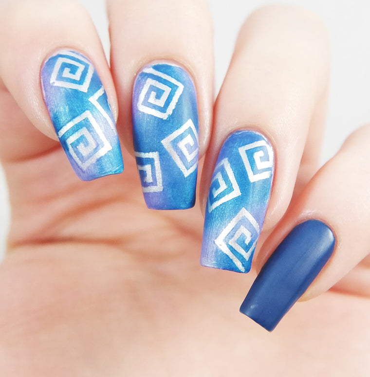 Small Square Swirl Nail Vinyls