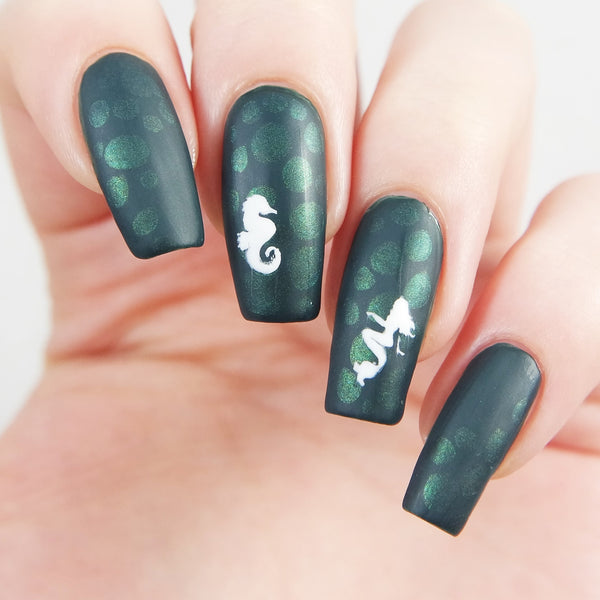 Mermaid Nail Decals/ Nail Stencils - Snail Vinyls  - 8