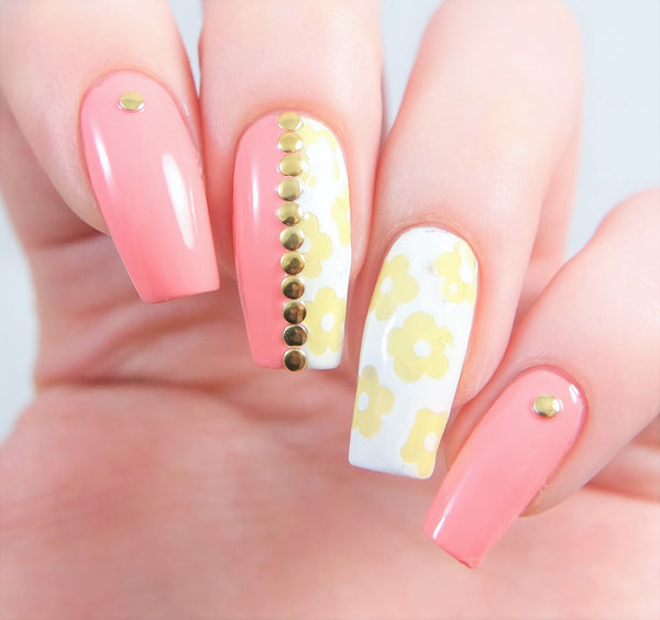 Daisy Flower Nail Decals - Snail Vinyls  - 3