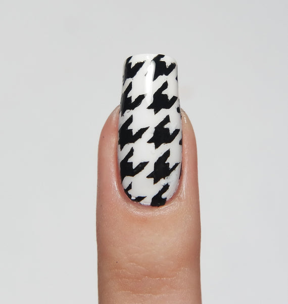 Houndstooth Nail Stencils - Snail Vinyls  - 7