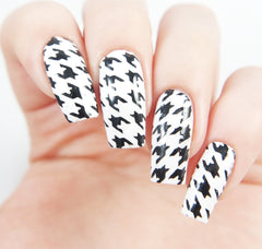 Houndstooth Nail Stencils - Snail Vinyls  - 5