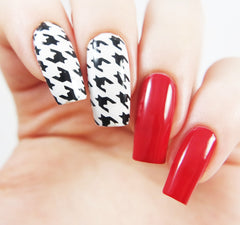 Houndstooth Nail Stencils