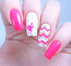 Flamingo Nail Decals/ Nail Stencils