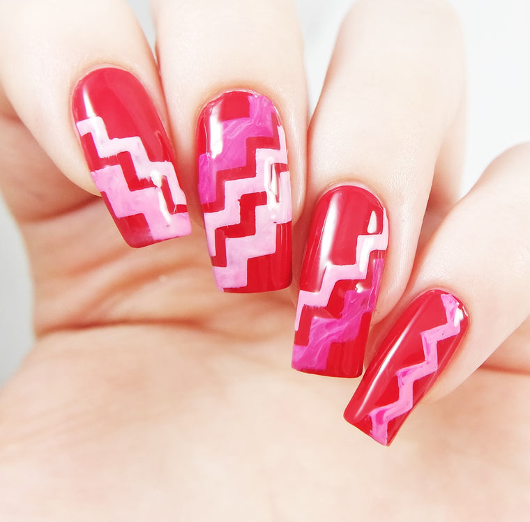 Large Chevron Nail Vinyls