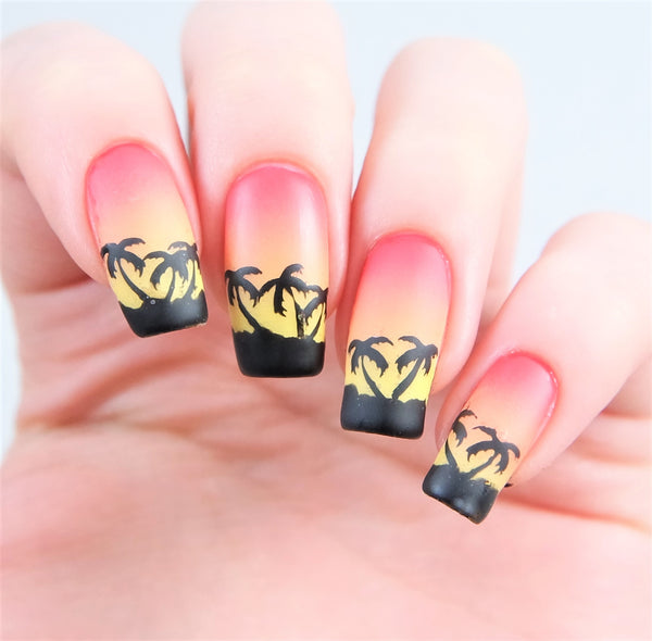 Palm Tree Nail Decals/ Nail Stencils