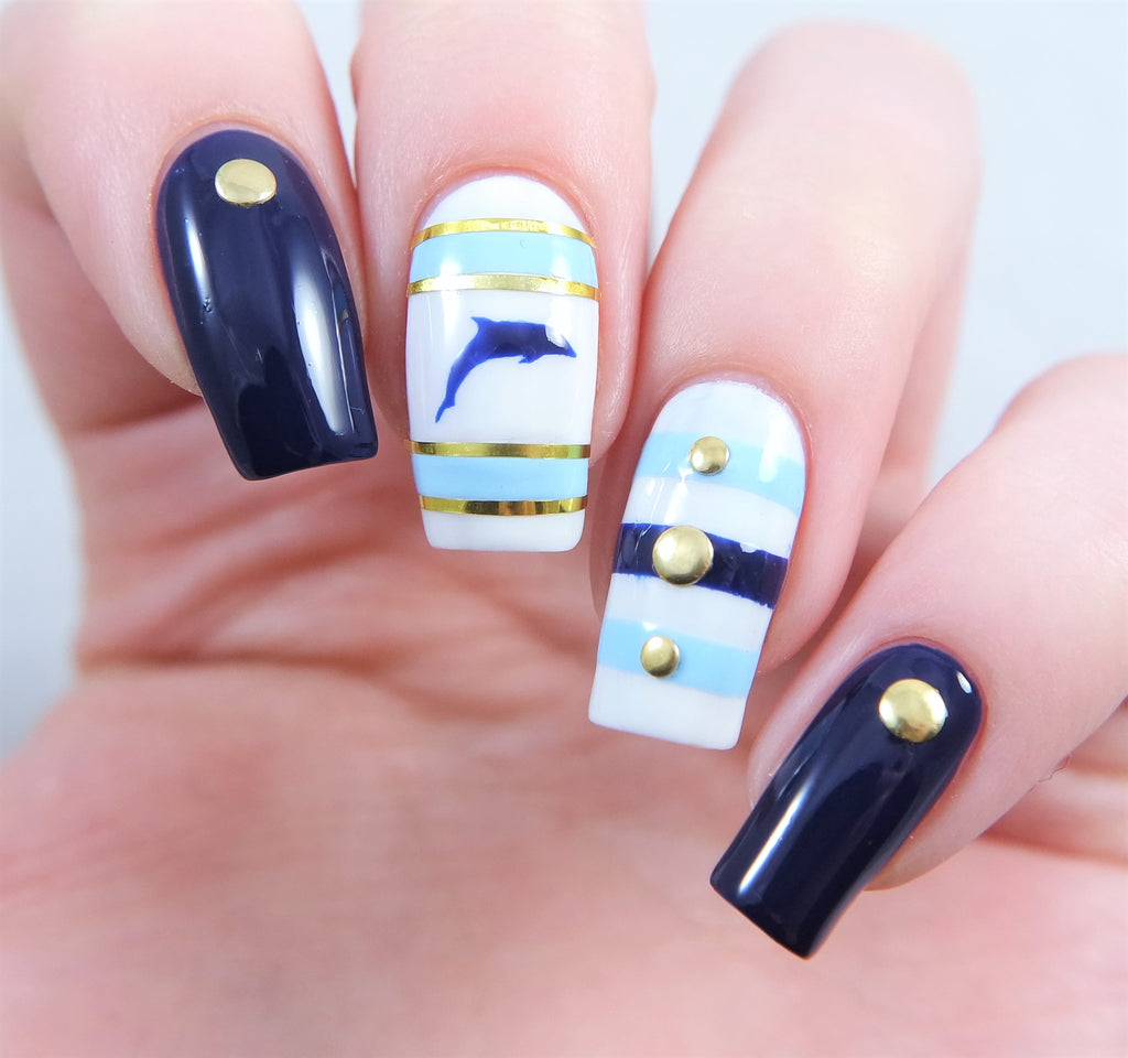 Dolphin Nail Decals/ Nail Stencils – Snail Vinyls