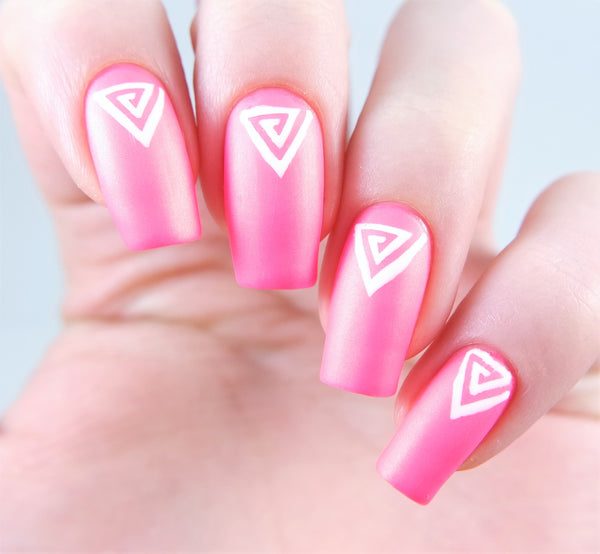 Small Triangle Swirl Nail Vinyls