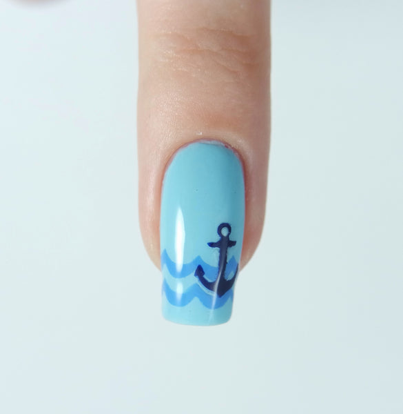 Anchor Nail Decal/ Nail Stencils - Snail Vinyls  - 3