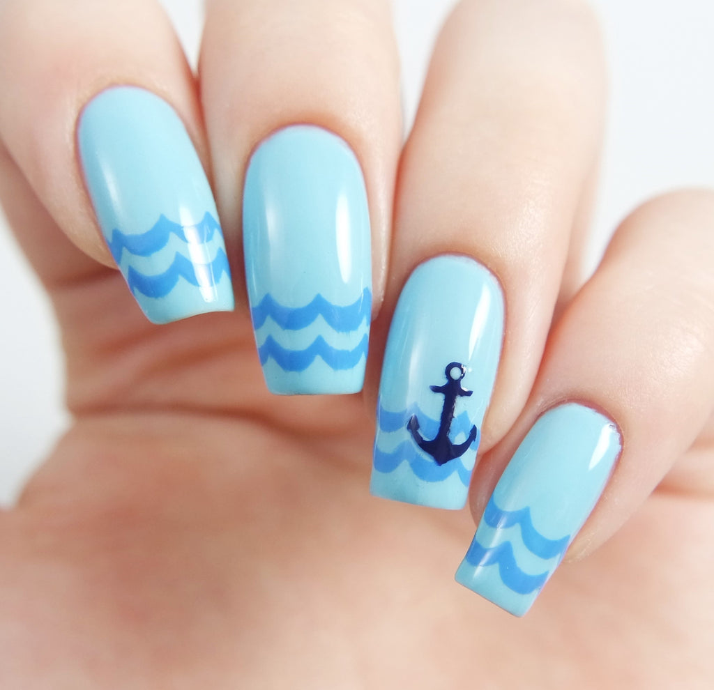 Anchor Nail Decals/ Anchor Nail Stencils – Snail Vinyls