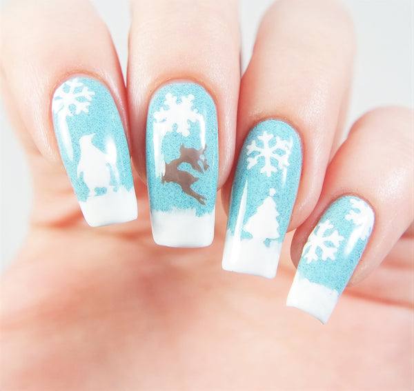 Christmas Tree Nail Decal & Nail Stencil - Snail Vinyls  - 3