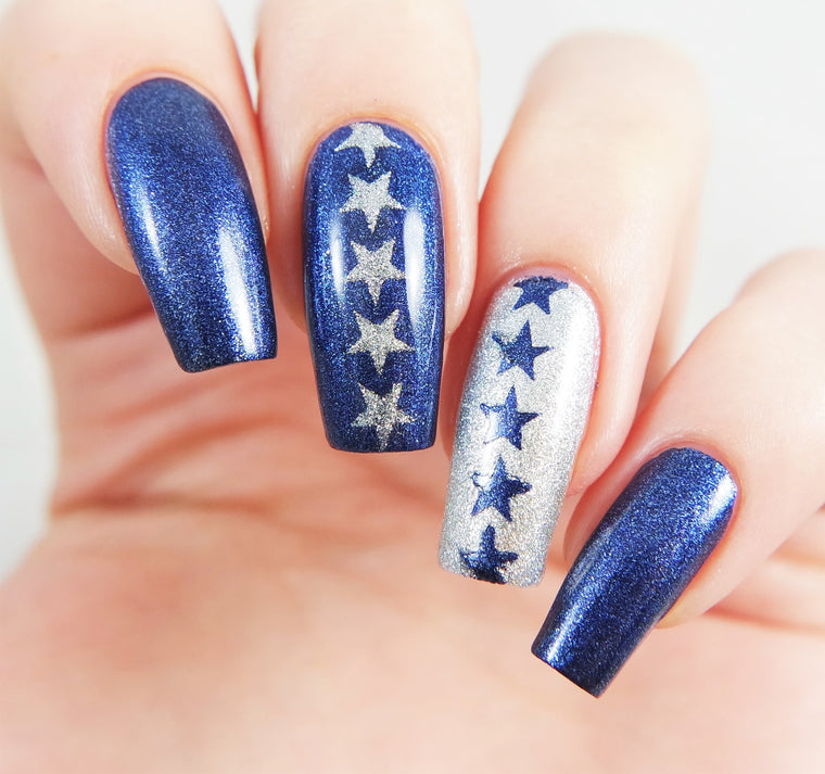Star Nail Stencils/ Nail Decals