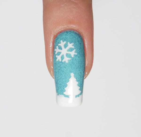 Christmas Tree Nail Decal & Nail Stencil - Snail Vinyls  - 5