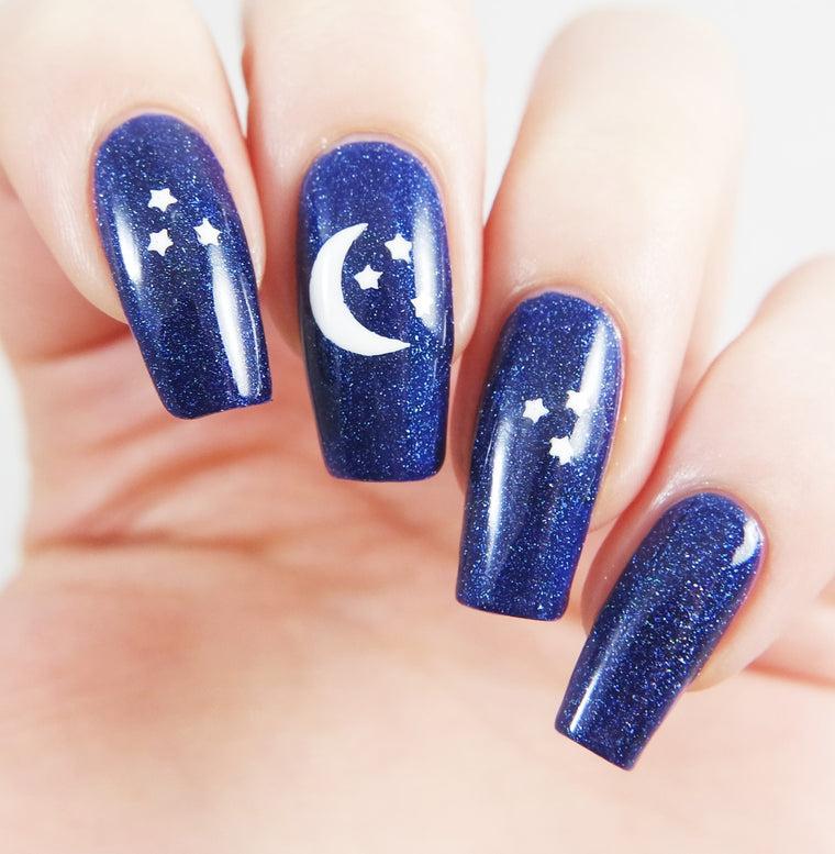 Moon and Stars Nail Decals