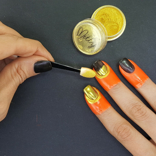 Mitty Chrome Nail Art Powder- Gold Bullion