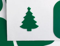 Christmas Tree Nail Decal & Nail Stencil - Snail Vinyls  - 4