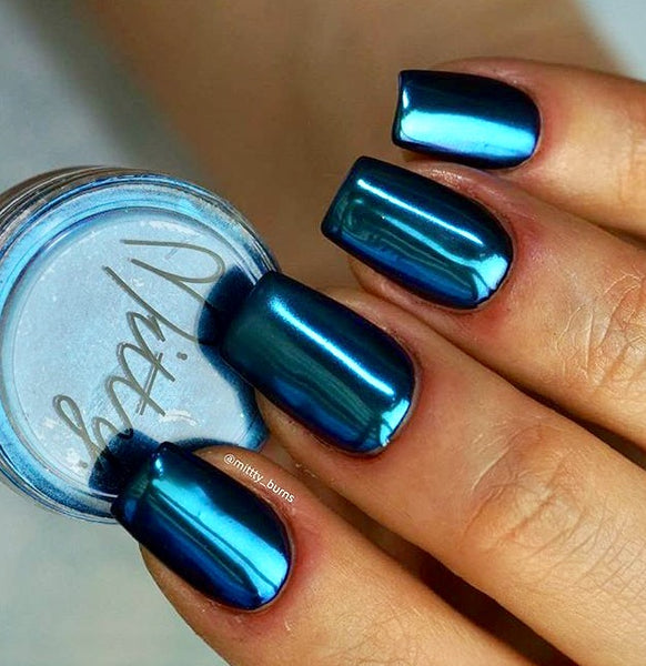 Mitty SUPER Chrome Nail Art Powder- Aquamarine
