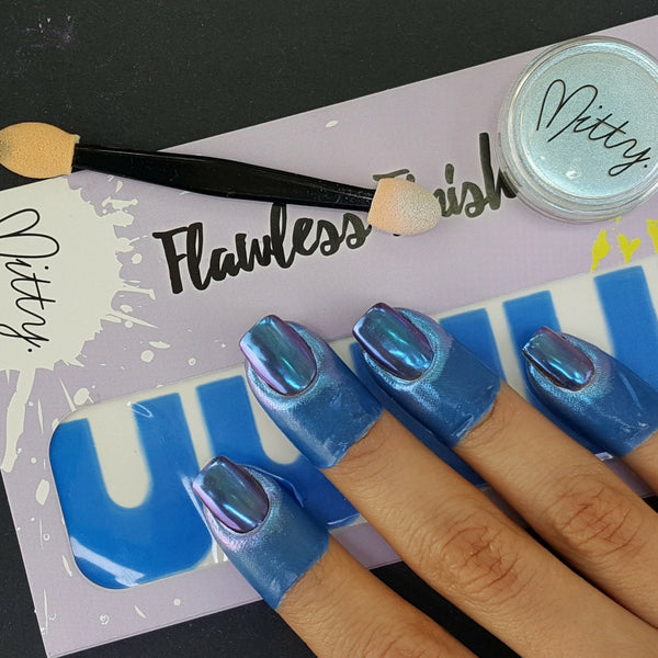 Mitty Chrome Nail Art Powder Blue Bullet
