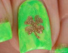 Four Leaf Clover Nail Decals - Snail Vinyls  - 3