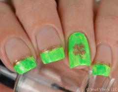Four Leaf Clover Nail Decals - Snail Vinyls  - 1