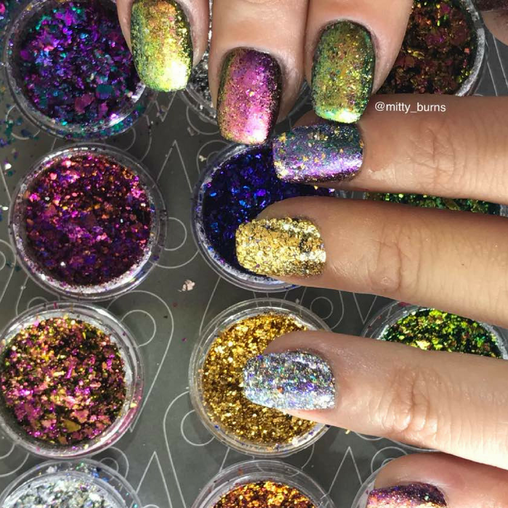 Mitty Shattered Galaxy Nail Art Powder – Snail Vinyls