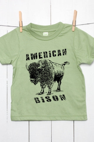 American Bison Toddler Organic Cotton T Shirt
