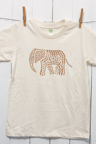 Elephant Rhinestud Children's Youth Organic Cotton T Shirt
