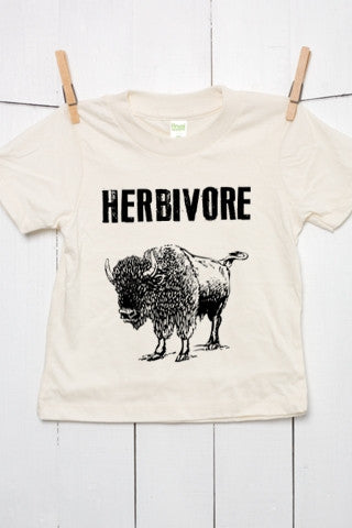 Herbivore American Bison Grunge Organic Cotton Toddler T Shirt
