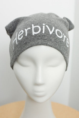 Herbivore Screen Printed Knit Beanie Slouch Hat