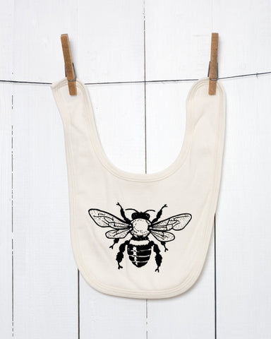 Bee Organic Cotton Baby Bib