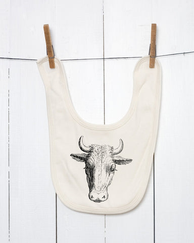 Cow Organic Cotton Baby Bib
