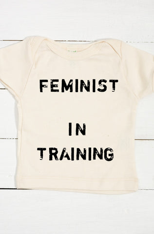 Feminist in Training Organic Cotton Infant Lapover T Shirt