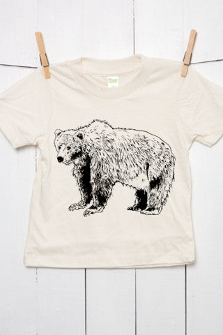 Grizzly Bear Toddler Organic Cotton T Shirt