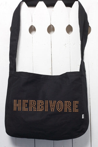 Herbivore Rhinestud Farmer's Market Organic Cotton Canvas Tote Bag