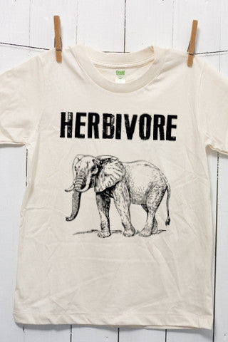Herbivore Elephant Children's Youth Organic Cotton T Shirt