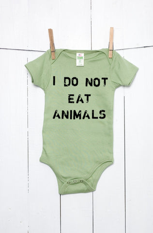 I Do Not Eat Animals Organic Cotton Baby Bodysuit