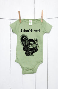 I Don't Eat - Turkey Organic Cotton Baby Bodysuit