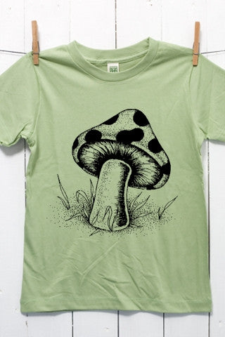Mushroom Children's Youth Organic Cotton T Shirt