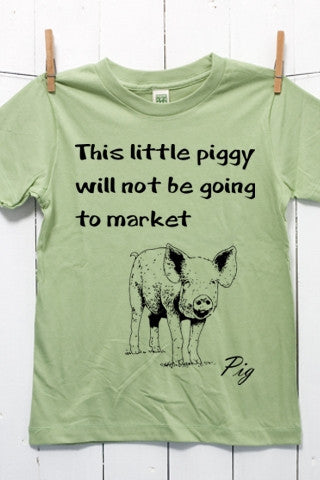 Piggy Not Going to Market Children's Youth Organic Cotton T Shirt