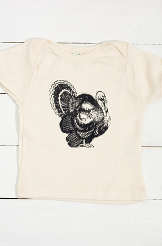 Turkey Organic Cotton Infant Lapover T Shirt