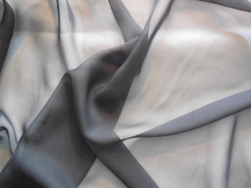 Black Premium Chiffon Fabric / Polyester black chiffon fabric Clothing sewing DIY is for sale. Sold by Per 0.5Meter