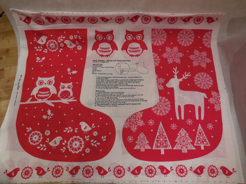 Christmas Boot Themes Cotton Red & white Fabric / Christmas fabric boot decoration diy is for sale . Sold by 110cm x 90cm per piece.