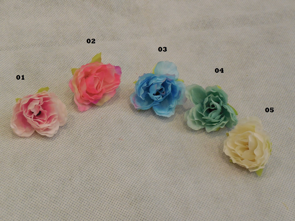 Mini Fabric Flower For Wedding bridal Crown DIY Craft 5colour choices 4cm each