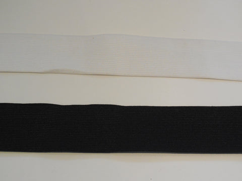 4.5cm wide Flat Elastic waistband black or white high quality. Sold by Meter(s)