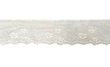 ivory cotton eyelash lace trim bridal floral embroidered lace trim dress edge lace trimming Per Yard