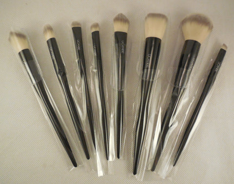 UCANBE black 8 foundation powder brushes Cosmetic makeup brushes set with grasp handle and soft fibre hair