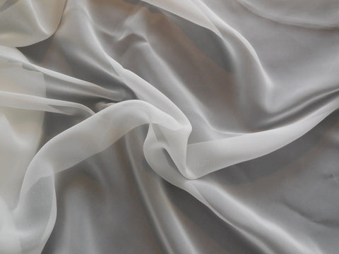 Ivory Premium Chiffon Fabric / Polyester bridal wedding chiffon fabric Clothing sewing DIY is for sale. Sold by Per 0.5Meter