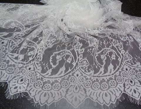 ivory cotton floral lace trim vintage style sewing lace trim sold by per0.5meter