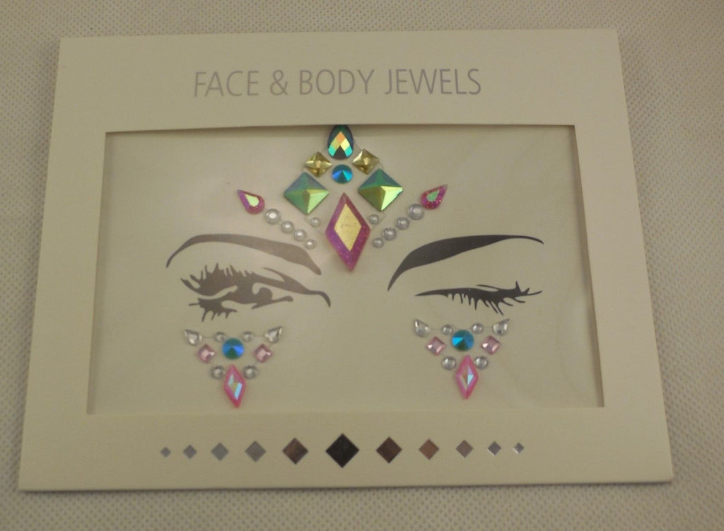 A face eye shadows tattoo stickers Festival temporary art face gems tattoos