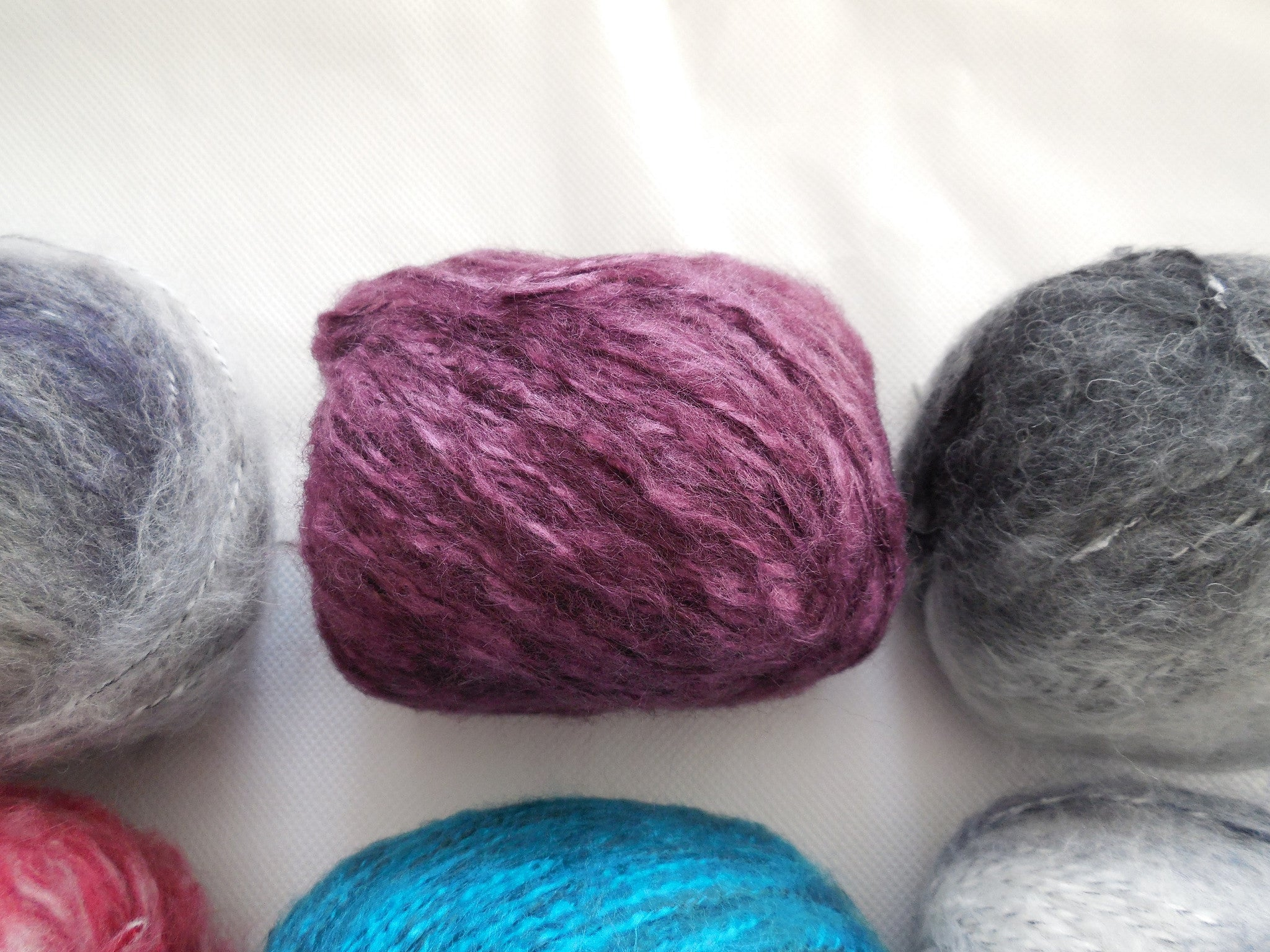 A Mohair wool yarn 100/% Skin fibers various colours choices,sold by per 50g//roll